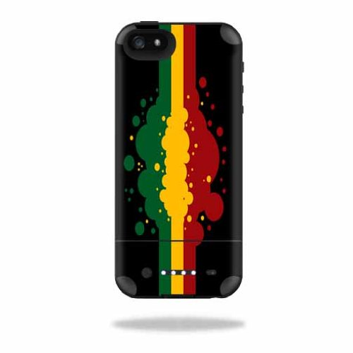 MightySkins Protective Vinyl Skin Decal Cover for Mophie Juice Pack Air iPhone SE/5s/5 Apple iPhone SE/5s/5 Battery Case wrap sticker skins Rasta Flag -  MJAIRIP5-Rasta Flag