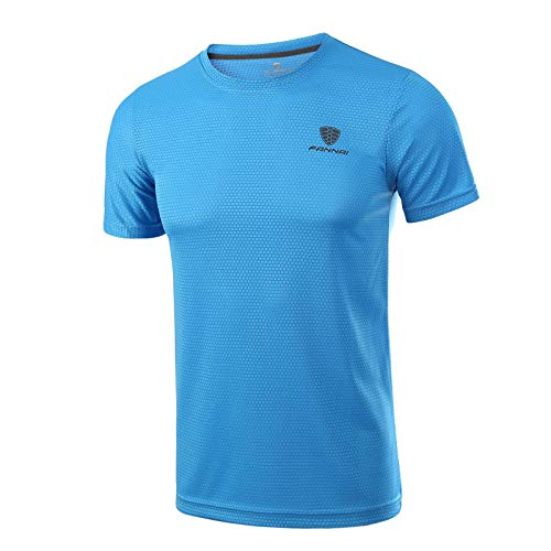 bluee Men's Compression Tops Running Sweatshirt Fitness,Men's Fitness TShirt Sports Fitness Compression Shirt,Men's Training Sports Top Equipment Muscle Slim Top,Men's Compression Gym Short Sleeve Running