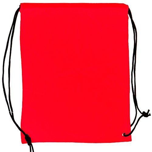 (5 Pack 210D POLYESTER Drawstring Backpack, Gym Sports, Outdoor Backpack, Camping and Hiking Red Bags (5 Pack, Red))