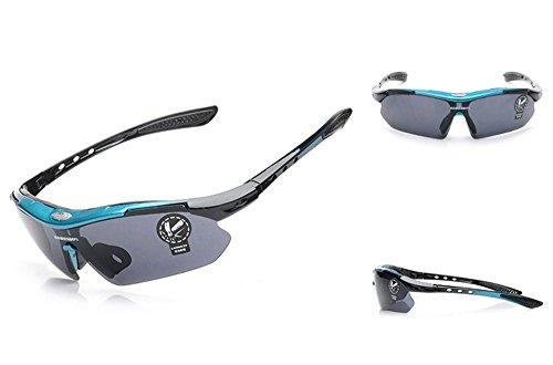 MansWill Sport Zonnebril, Outdoor Winddicht Bril Set, High Definition PC Lens UV400 Bescherming voor Fietsen Hardlopen…