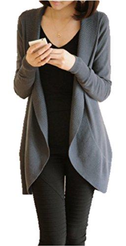 M.O.D.E. レディース ふんわり ロング カーディガン コート カジュアル ラグジュアリー スタイル スリムデザイン サマーニット