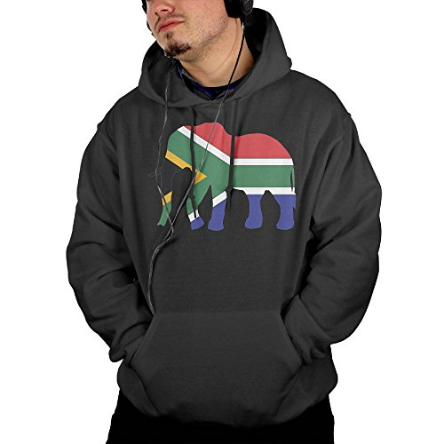 ZQBABYGIRL Elephant South Africa Flag Men's Hoodie Pullover Hoodie Sweatshirt with Pocket by ZQBABYGIRL