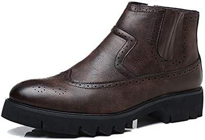 ウィンターブーツ マーティンブーツ ハイカットブーツ スノーシューズ ブーツ ブラック 黒 ショート メンズ 歩きやすい 防寒 暖か 靴 冬 アウトドア メンズ 防滑 ミドル丈 防水 ワークブーツ チェルシーブーツ