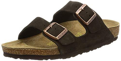 Birkenstock Unisex Arizona Mocha Suede Sandals - 42 N EU/11-11.5 2A(N) US Women/9-9.5 2A(N) US Men
