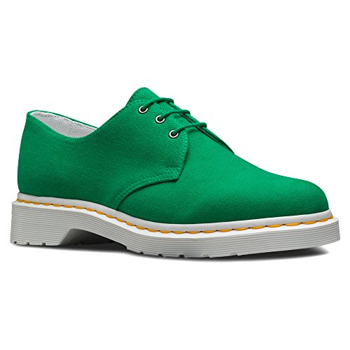 Dr. Martens Unisex Lester 3-eye Toile Oxfords De Mode Vert