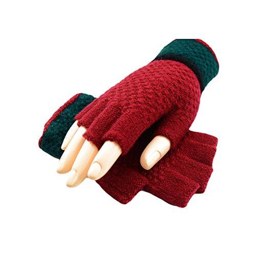 BAOBAO Warm Thick Knit Gloves Students Korea Style Fingerless Gloves Winter