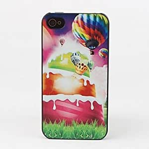 Cake and Colorful Balloon Protective Back Case for iPhone 4/4S by ruishername