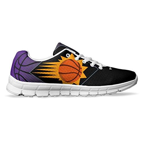 Men's Phoenix Basketball Custom Fan Made Running/Athletic Sneakers Size 11 White