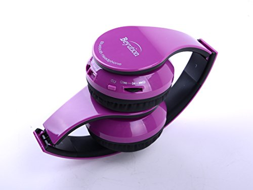 (Beyution Wireless Bluetooth Headphones for Apple iPhone 6/6plus/5s/5/5c/4s/4/3/2 all Ipad iTouch Mac IPOD SAMSUNG GALAXY S5/S4/S3; Note 2/3/4 LG and all portable deive with bluetooth (513 Pure Purple) )