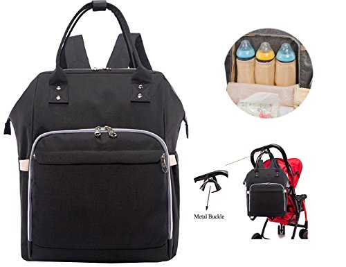 iSuperb Diaper Bag Backpack Multi-Function Waterproof Travel Baby Nappy Changing Bag Carry On Shoulder Bag with Insulated Pockets