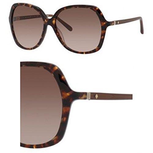 Kate Spade Women's Jonell Square Sunglasses Havana Warm Brown Gradient, 58 mm