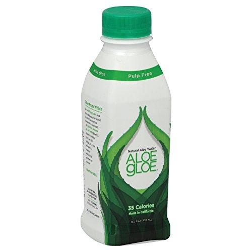 Aloe Gloe Crisp Aloe Organic Aloe Water - Case of 12 - 15.2 fl oz. by Aloe Gloe