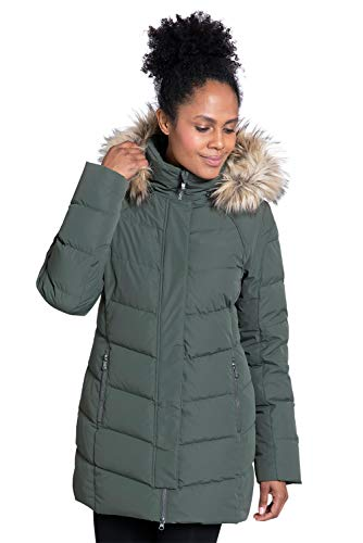 Mountain Warehouse Isla II Womens Down Jacket – Fur Hoodie, Two Zipped Pockets, Waterproof Winter Coat -Thermal Tested…