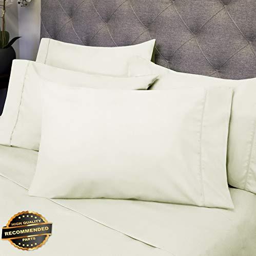 (Gatton New Premium 6 Piece Bedroom Bed Sheet Set 1500 Thread Count Luxury Comfort Deep Pocket | LINENIENHM-182011446 California King)