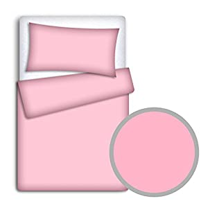 Baby Bedding Set Pillowcase + Duvet Cover 2PC to FIT Baby COT Bed (Pink)