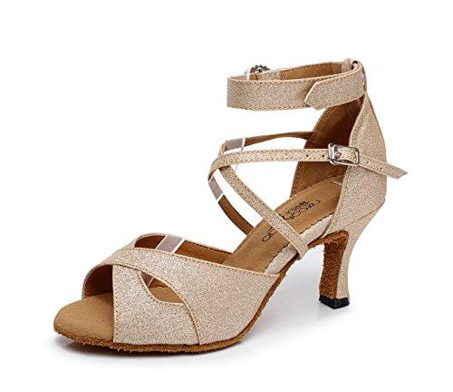 JSHOE Chaussures De Danse Pour Femmes Latin Salsa/Tango/Th