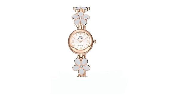 & G & g & AliExpress mejor venta de Fashion diseño creativo soxy Joker Lady Plum Blossom pulsera reloj elegante regalos de cumpleaños, color blanco: ...