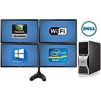 Trading Computer System Dell Precision T5500 Workstation - 32GB of Ram- 8 Core 2X 2.93 Quad Xeon Intel Processors- *NEW* 500GB SSD + *NEW* 4TB HD - w/ 4X 24 Monitors + Quad Stand