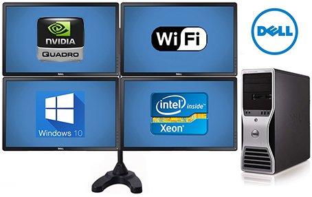 - Trading Computer System Dell Precision T5500 Workstation - 32GB of Ram- 8 Core 2X 2.93 Quad Xeon Intel Processors- *NEW* 500GB SSD + *NEW* 4TB HD - w/ 4X 24