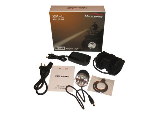 MagicShine MJ-808E LED Bike Light with Improved Battery Pack and Charger, 1000-Lumen, Black