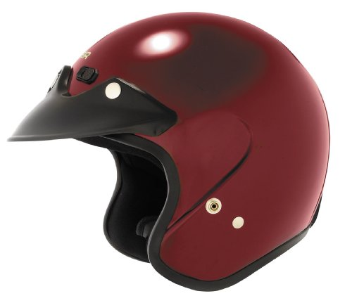 Cyber Helmets U-6 Solid Helmet , Size: Md, Distinct Name: Whineberry, Helmet Category: Street, Primary Color: Red, Helmet Type: Open-face Helmets, Gender: Mens/Unisex 641262