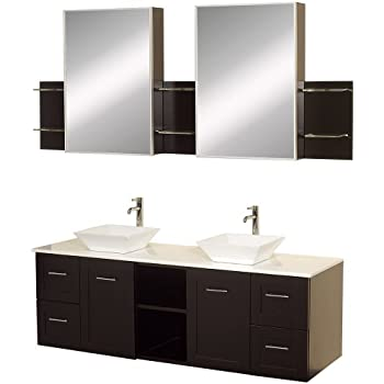 Design Element Moscony Double Sink Vanity Set with Espresso Finish ...
