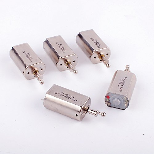 5 Pcs DC3.7V 180 Vibration Motor Strong Magnetic Silver Brush High Speed Strong Vibration For Razor