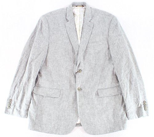 Tasso Elba Mens Two Button Linen-Blend Sport Coat