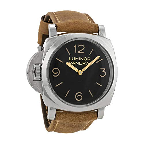 Panerai Luminor 1950 Left-handed 3 Days Acciaio Black Dial Mens Watch PAM00557