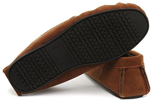 Neuf: Dunlop Ralph Homme Mocassins Chaussons, Beige (Bronzage), Pointure 44