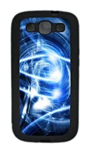 Abstract Blue Art Custom Design Samsung Galaxy S3 Case Cover - TPU - Black
