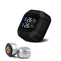 🛵 Feature : 1.Use lithium battery to get electricity, with 2 external mini sensors 2.LED panel, with extra mini USB port for charging 3.Light weight design for sensor, no need to adjust to balance when the tire moving 4.Monitoring the tempera...