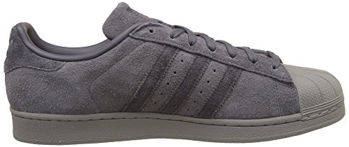 Mens Superstar Adidas, Grigio / Nero, 10 M Us