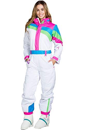 Women's Dayglow Neon Rainbow Ski Suit - Stylish High-Performance Ski Suit: XL ()