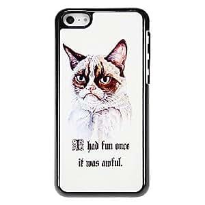 ZXM-Modelo del gato sofisticado estuche rígido para el iPhone aluminoso 5C