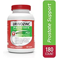 Urinozinc Plus - Prostate Supplement with Beta Sitosterol & Saw Palmetto – Reduce Frequent Urination Concerns & Support your Prostate Health, 180 Caplets