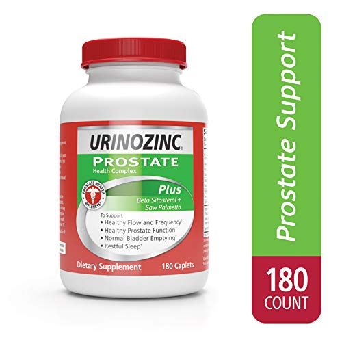 Urinozinc Plus Prostate Health Formula + Beta-Sitosterol, 180 Caplets (90 Day Supply)
