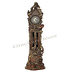Hand Carved,Painted Grandfather Floor Standing European Style Clock