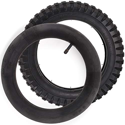 LotFancy 12.5 x 2.75 (12-1/2 x 2.75), 12-1/2 x 2-3/4 Tire & Inner Tube Set for Razor Electric Dirt Bike MX350 MX400, X-Treme X-560 - Heavy Duty Scooter Tire Tube for Mini Pocket Bikes, Pack of 2 - Pocket Rocket Mini Electric Motorcycle