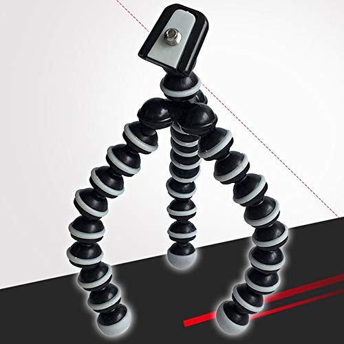 Octopus Camera Tripod Soporte Flexible para tel/éfono Celular Soporte Selfie Stick con Placa de liberaci/ón r/ápida para tel/éfono Inteligente//C/ámara-Negro-S