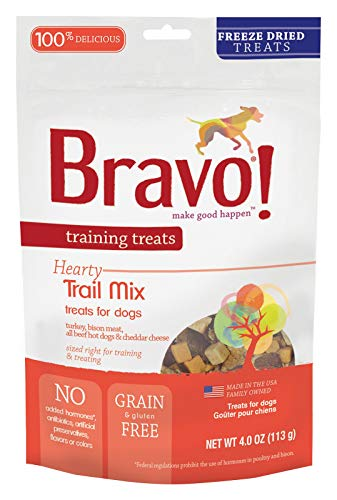 (Bravo Dog Treats Freeze Dried Trail Mix Snack Training Treat For Pets 4 oz Bag)