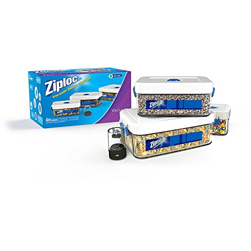 Ziploc ZLCANISTER-3PC Three 1.5-Liter Canister Set with Adapter 1.5L White