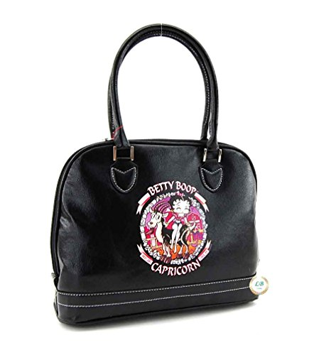 Betty Boop Zodiac Purse with Top Handles (Betty Boop Top Zip)