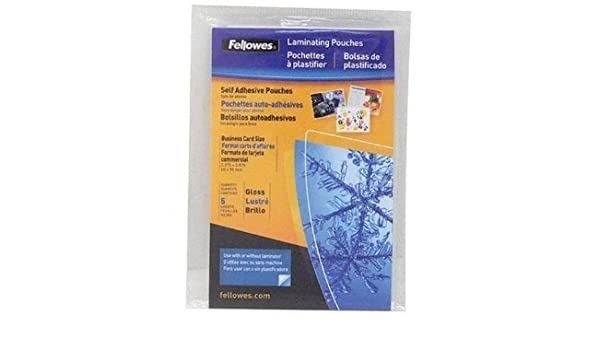 Amazon.com : FELLOWES 5220101 Pouch Self Adhesive Business ...