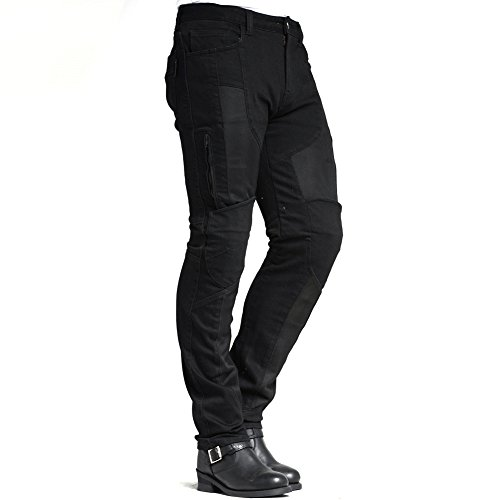 MAXLER JEAN Men's Bike Motorcycle Motorbike Kevlar Jeans 1614 for summer Black 34 by Maxlerjean