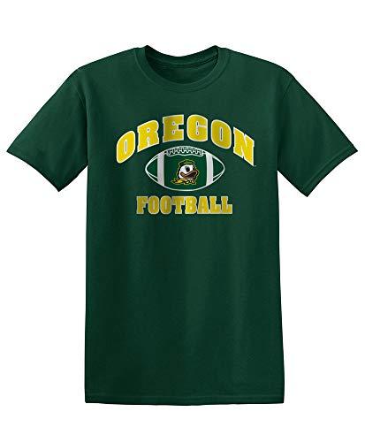 Elite Fan Shop NCAA Men's Oregon Ducks Team Color Football T-shirt Oregon Ducks Green Large ()