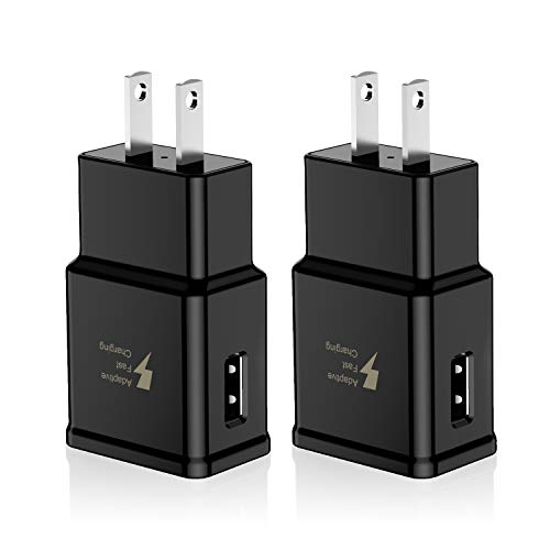 Adaptive Fast Charging Wall Charger Adapter Compatible Samsung Galaxy S6 S7 S8 S9 S10 / Edge/Plus/Active, Note 5,Note 8…