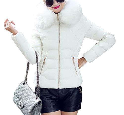 Coat Cotton Warm Thickened Hoode Size Short White Jacket Plus EnergyWomen xnaBwO0nq
