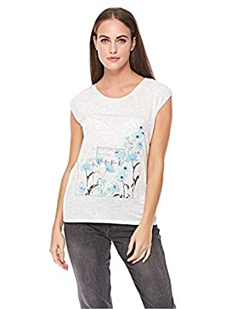 Pimkie White Round Neck T-Shirt For Women