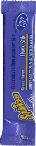 Sqwincher ZERO Qwik Stik - Sugar Free Electrolyte Powdered Beverage Mix, Grape 060107-GR (Pack of - Single Sqwincher